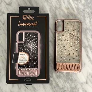 IPHONE X LIGHT UP WITH CRYSTALS, LUMINESCENT CASE